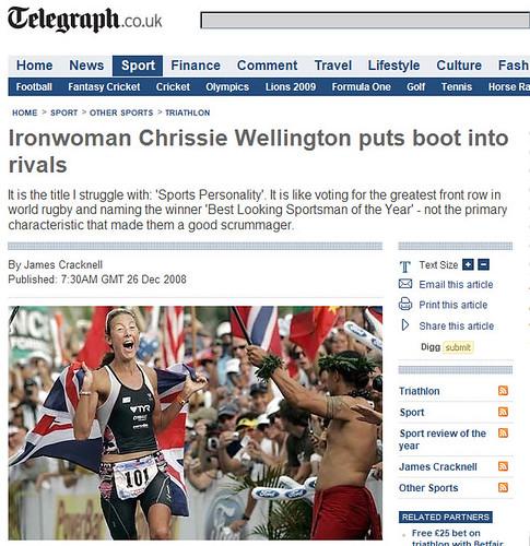 Telegraph.co.uk 26 Dec 2008