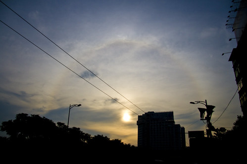Solar halo in Wuhan, morning of the eclipse