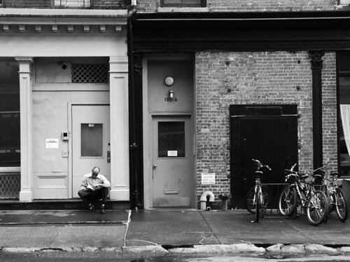 Tribeca stoop, NYC