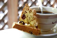 Cranberry-Pistachio Cornmeal Biscotti
