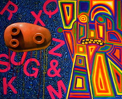 The Discovery of Water (Jimmy McCullough) Tags: sanfrancisco abstract art painting weird artwork lab san francisco media paint artist acrylic surrealism jimmy arts creepy painter dada artbrut mailart avant avantgarde brut mccullough fluxus artsits maultrommel doromb rompida sanfranciscoartist jimmymccullough rompidamedialab jewsharpplayer