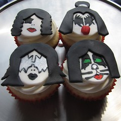 KISS Band Member Cupcakes