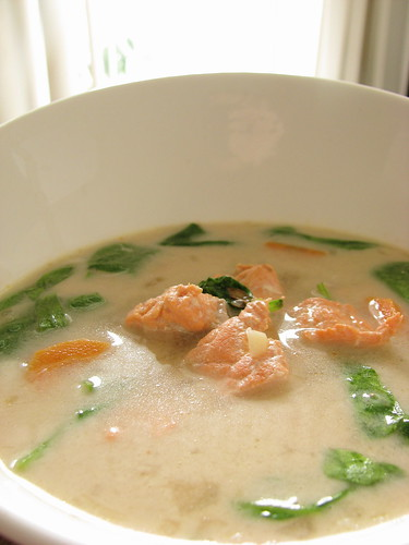 asian coconut milk broth salmon recipe