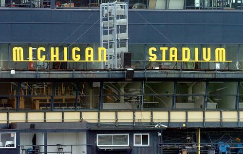 Image result for michigan stadium lettering