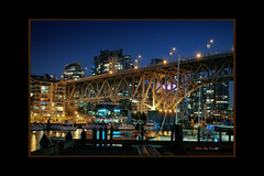 Granville Island (HDR) (Steve Desko) Tags: nightphotography bridge canada night vancouver reflections nikon photographer bc britishcolumbia bridges nikond70s photograph vancouverbc hdr 2010   photomatix  tonemapped  platinumphoto