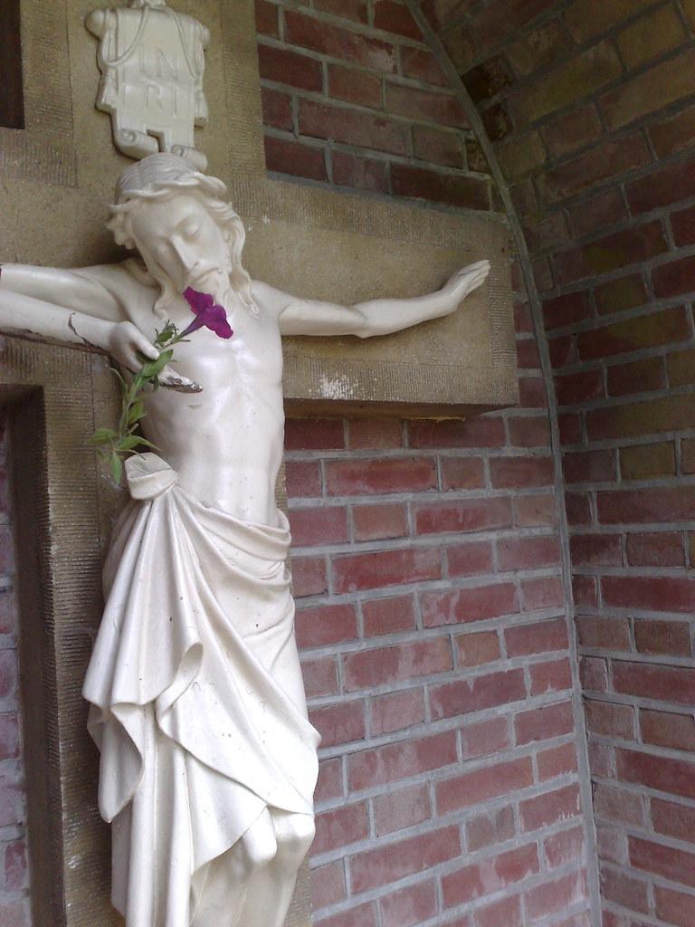 Jesus smells flower?