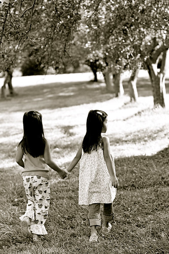 Holding Hands in the Apple Orchard