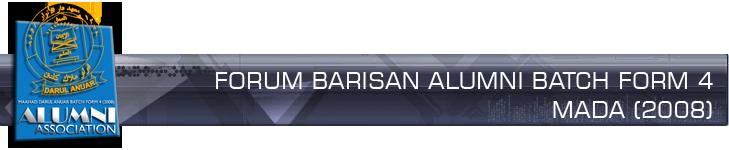 :: BARISAN ALUMNI MADA FORM 4 ::