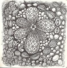 Really Crazy 8's (molossus, who says Life Imitates Doodles) Tags: journal doodle zentangle zentangleinspiredart