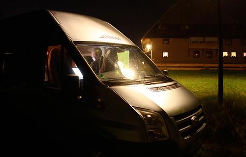 Nachtstimmung, auf der Suche nach UMTS-Empfang