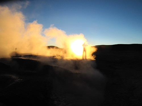 Sunrise over the Geysers