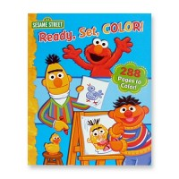Sesame Street - Ready Set Color 288-pages Colouring Book by erlisa