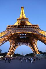 Paris Trip (Thomo13) Tags: paris france tower night canon lights angle mark wide eiffel ii 5d flickrnova