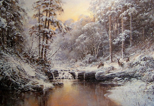 Winter scene forest light forest light acrylic 21 x 14 feel free to