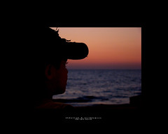 Moments of Meditation |   (Abdullah.N.KH) Tags: ocean sunset sea portrait abstract building nature colors smile silhouette sunrise canon landscape sadness waves 300d desert natural happiness wideangle nassir abdullah oldhomes  khamees 5dmark2 mark|| abdullahnasser