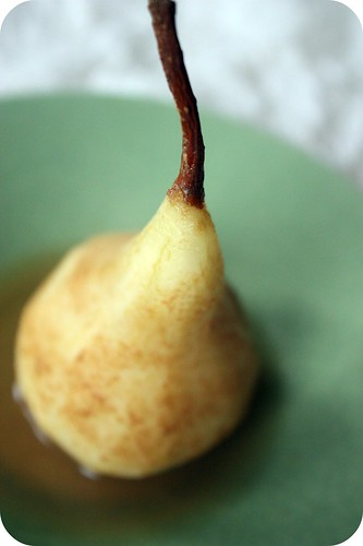 Cider-Poached Pear