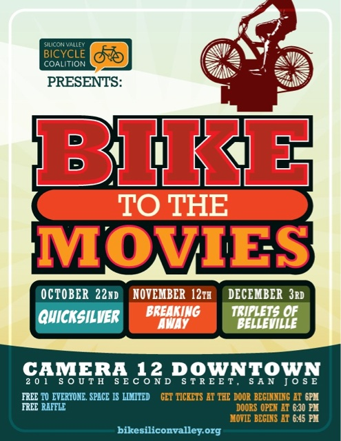 SVBC San Jose Bike to the Movies Night poster
