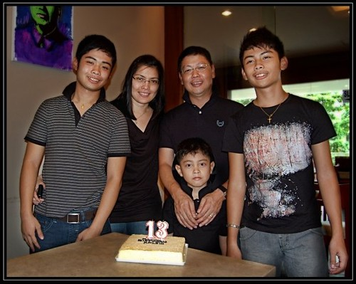 ala adams family :) on kyle's bday lunch at Big Mao