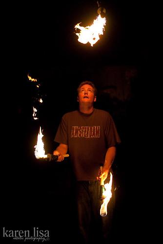 Scot juggles fire