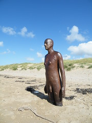 Antony Gormley's Another Place (Blundellsands) (Emma A Photography) Tags: sea sculpture beach liverpool antony gormley blundellsands