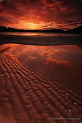 Reflecting The Days End (mick walters/Billy) Tags: longexposure sunset seascape landscape australia tasmania wineglassbay freycinet colesbay infinestyle