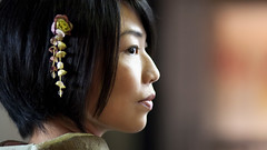 (TheJbot) Tags: portrait woman girl japan night canon japanese bokeh profile kimono cinematic ef85mmf18usm 40d