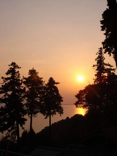 琵琶湖の夕焼け-01