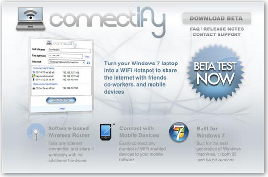 4075125456 077024a6f8 o Connectify: 让你的Win7变身为WiFi热点 @分享网络2.0  盗盗