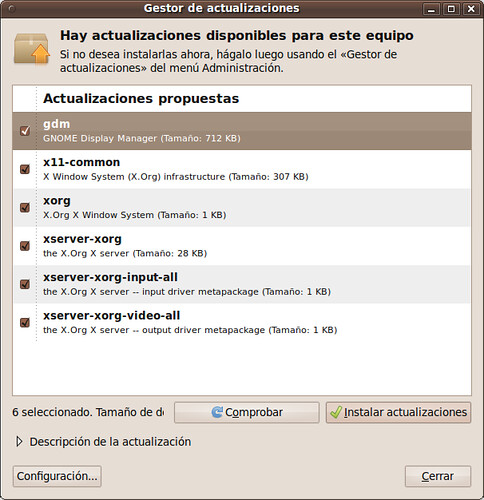 Gestor Actualizaciones Ubuntu