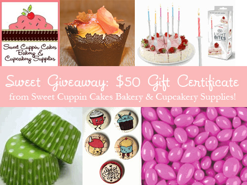 Sweet Cuppin Cakes Giveaway!