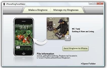 portable iphone ringtone maker