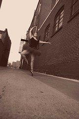 prep (Kenny is jumping) Tags: red ballet streets brick wall dance shoes purple tutu