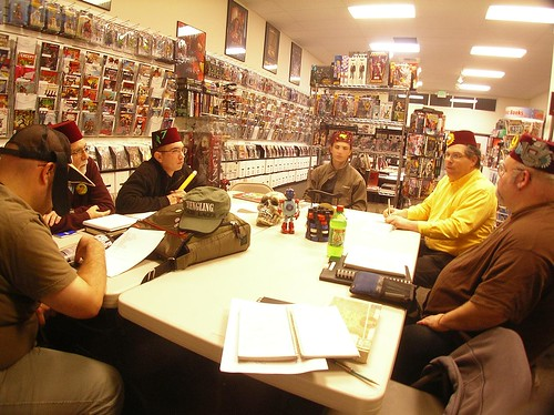 CLAW secret meeting at Comic Book Ink