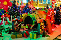 Chitty Chitty Bang Bang...... (Chris H#) Tags: blue trees red orange green yellow miltonkeynes purple presents s3000 chittychittybangbang christmasfestival trulyscrumptious nikond5000 iknowitsnotreallybutitsalmosttherebesidesanexcuseforsomefeelgoodmemories