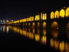 2xSiosepol (Explored) (Cna1_10) Tags: bridge autumn reflection night iran isfahan   cafenaderi kartpostal