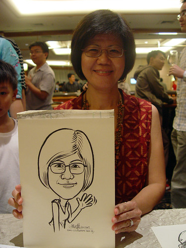 Caricature live sketching for wedding dinner 221109 - 9