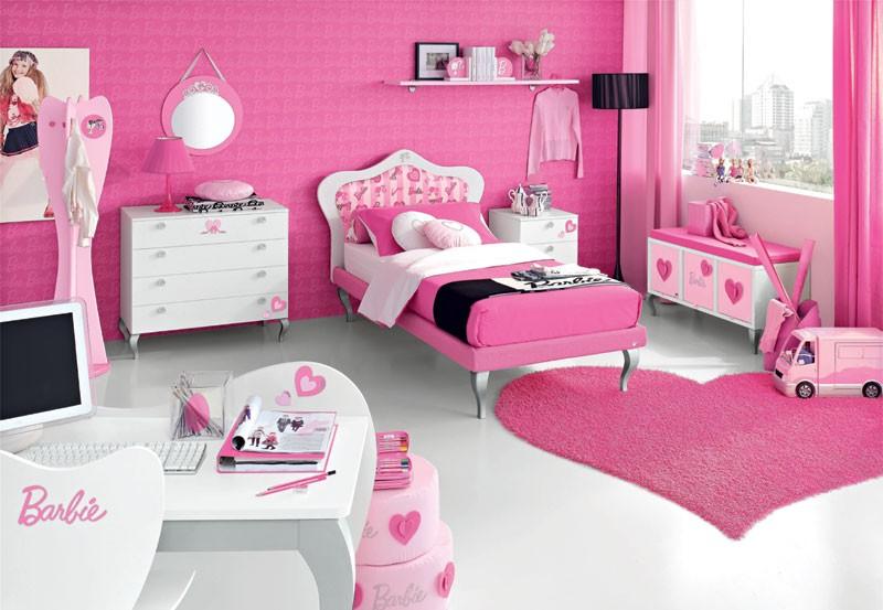 natural interior design: Pink Romantic Barbie Kids Bedroom ...