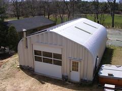 SteelMaster Steel Garage with Solar Panels
