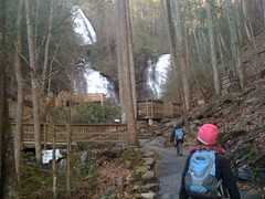 The Girls Approaching Anna Ruby Falls