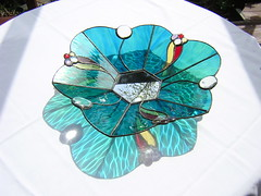 Bowl - blacked1 (Gregelope) Tags: colour glass beautiful reflections handmade stainedglass hobbies craftsmanship craftwork copperfoil