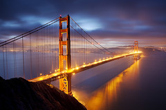 Golden Gate:  Marin Headlands, California (Ivan Sohrakoff) Tags: sf sanfrancisco california bridge sky usa seascape water clouds sunrise landscape photography golden bay gate francisco goldengatebridge goldengate bayarea headlands marincounty spencer sausalito suspensionbridge marinheadlands batteryspencer ggb landscapephotography impressedbeauty ivansohrakoff