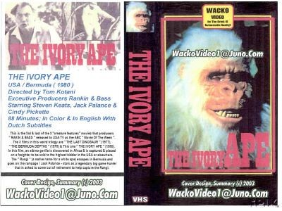 THE IVORY APE (1980) VHS art