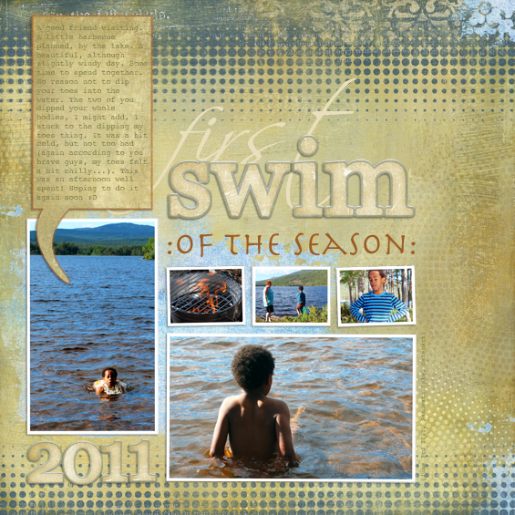 first swim of the season (2011)