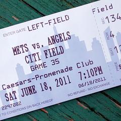 Mets ticket