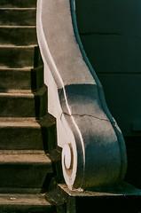 Cracked (Geza (aka Wilsing)) Tags: asa400 nikonf80 scannednegative tamron90mmmacro unnamedfilm stairs ballustrade