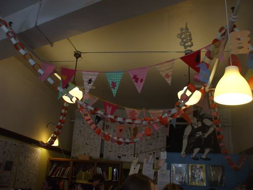 Kate's banners and pennants at Reading Frenzy