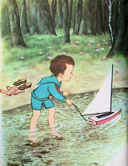 My Ship and I - A Child's Garden of Verses - Illustrator Gyo Fujikawa (oldsailro) Tags: childs garden verses gyo fujikawa model yacht pond sailboat boat children boy girl beach waves sunshine playing fun water summer time sun sea toy wooden ship miniature antique old vintage lake pool regatta adolescence fashioned park people spectators watercraft youth group sailing race mat boom keel hull child