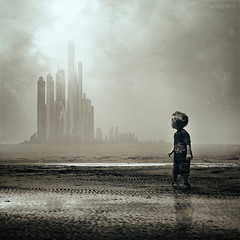 The Survivor (swinspeed) Tags: city boy storm building art texture last digital buildings alone child manipulation end survivor existence remaining swinspeed