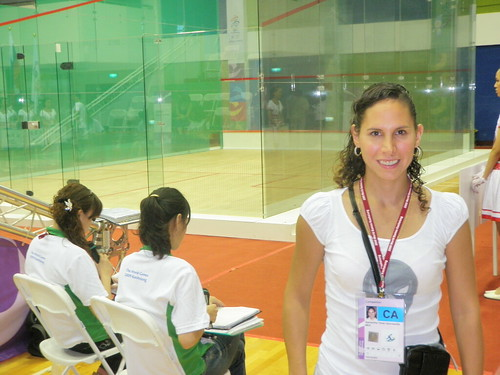 Here I am, at the World Games, posing with the glass court!