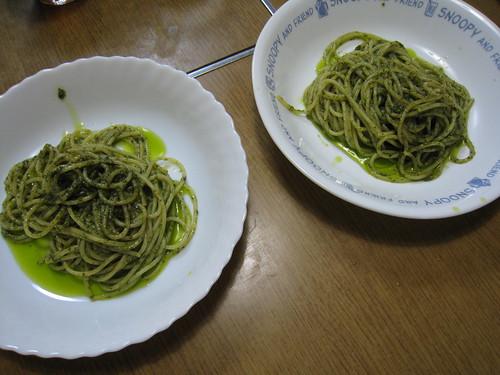 ジェノベーゼソースのスパゲティ